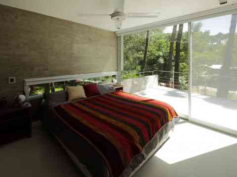 Beautiful Bedroom Balcony And Sliding Glass Door Design