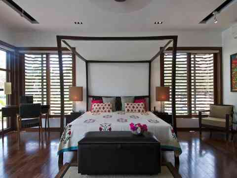 Beautiful Bedroom Interior And Wooden Flooring