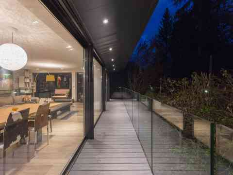 Beautiful Night View From Balcony Glass Balustrading