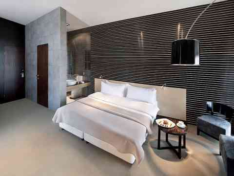 Bedroom Interior Design Art Wall Attached Bathroom