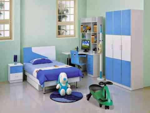 Boys Study Table Wardrobe And Bed Design Boy Room Decoration