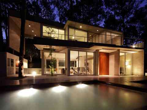 Evening Lighting Beautiful Fresno House Carilo Argentina