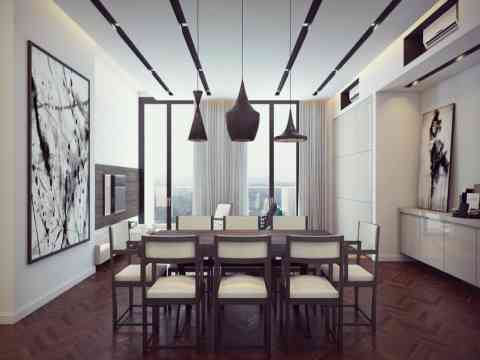 Adorable luxury dining room design id455 modern luxury for Formal dining room wall decor