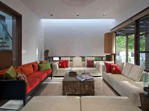 Gorgeous Living Room With Sofas And Coffee Table