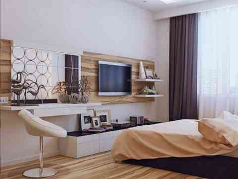 LCD Cabinet And Dressing Table Design For Bedroom