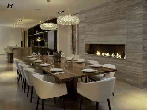 modern dining room interior design idea