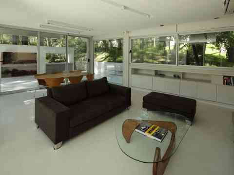 Open Living Space Coffee Sofa And Dining Table Design