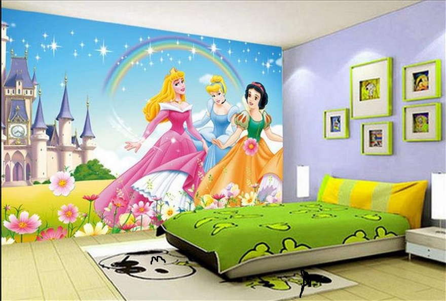 Barbie wallpaper kids room interior design id883 for Kids room wall paper