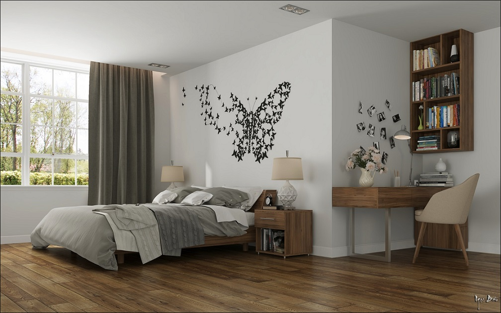 Merveilleux Download Beautiful Butterfly Wallpaper Bedroom Design Image ...
