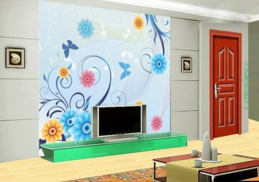 Download Beautiful LCD Cabinet Wall Sticker Design Image ...