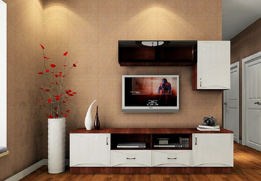 Beautiful Stylish Lcd Cabinet Design And Flower Vase Id973 - Lcd Tv Cabinet Designs - Furniture ...