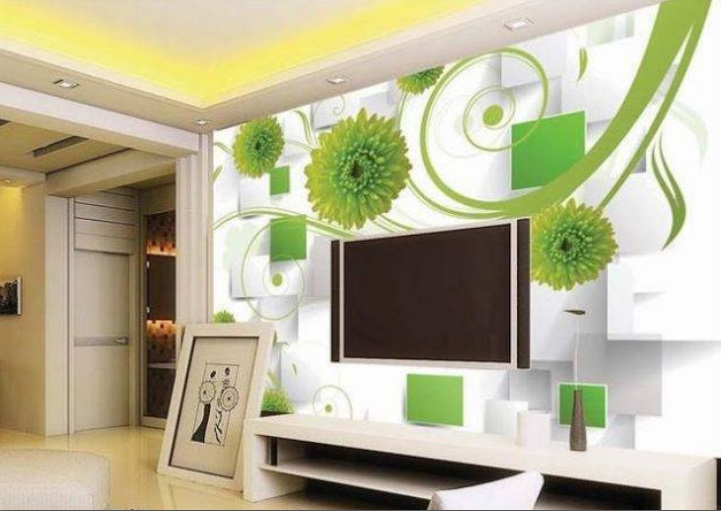 Charmant Download Beautiful Wall Art And Ceiling Design Lcd Cabinet Image ...