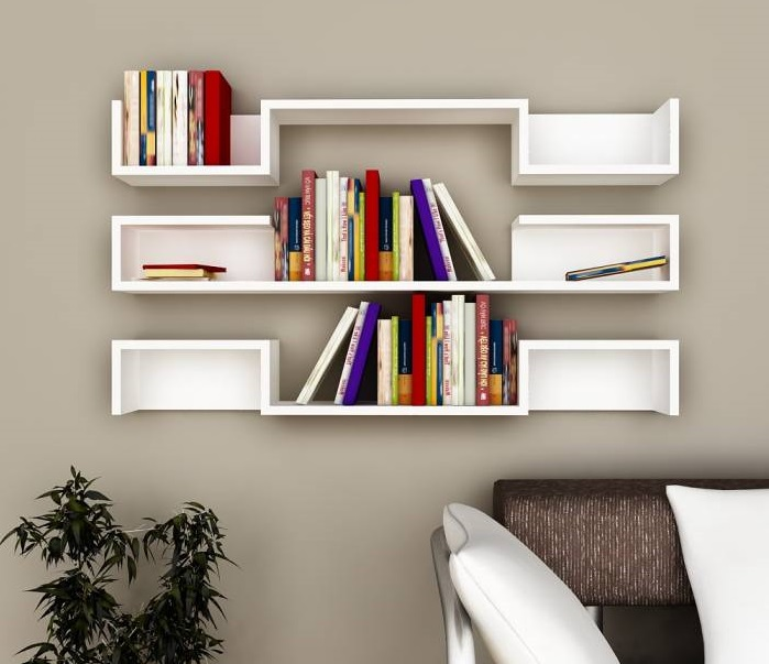 Beautiful Wall Book Shelves For Book Readers