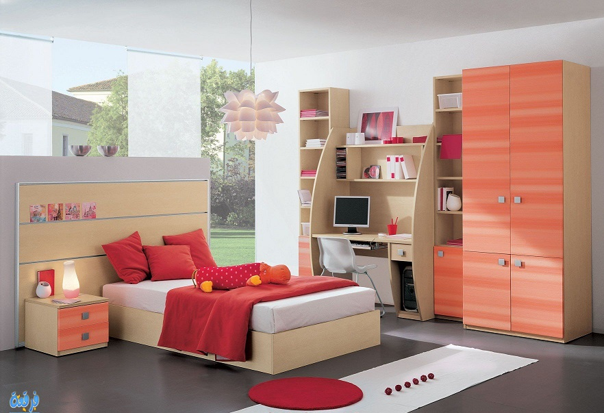 Download Boys Bedroom Furniture Design Study Table Beds Wardrobe Image ...
