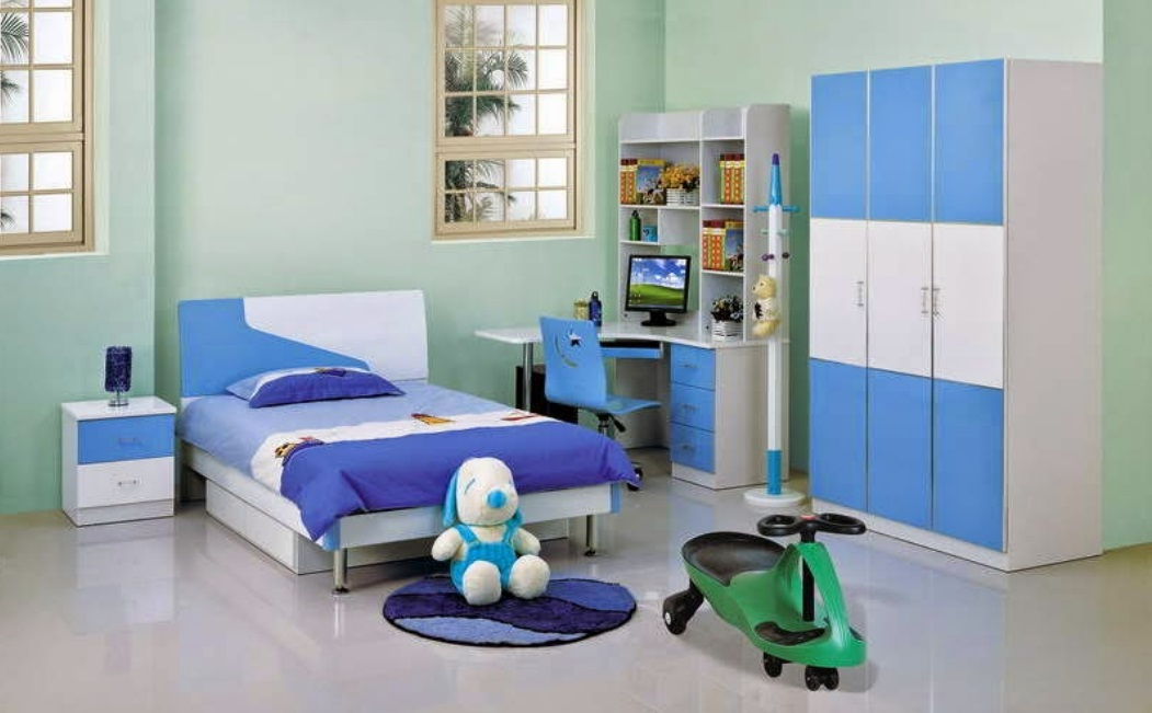 Download Boys Study Table Wardrobe And Bed Design Boy Room Decoration Image  ...