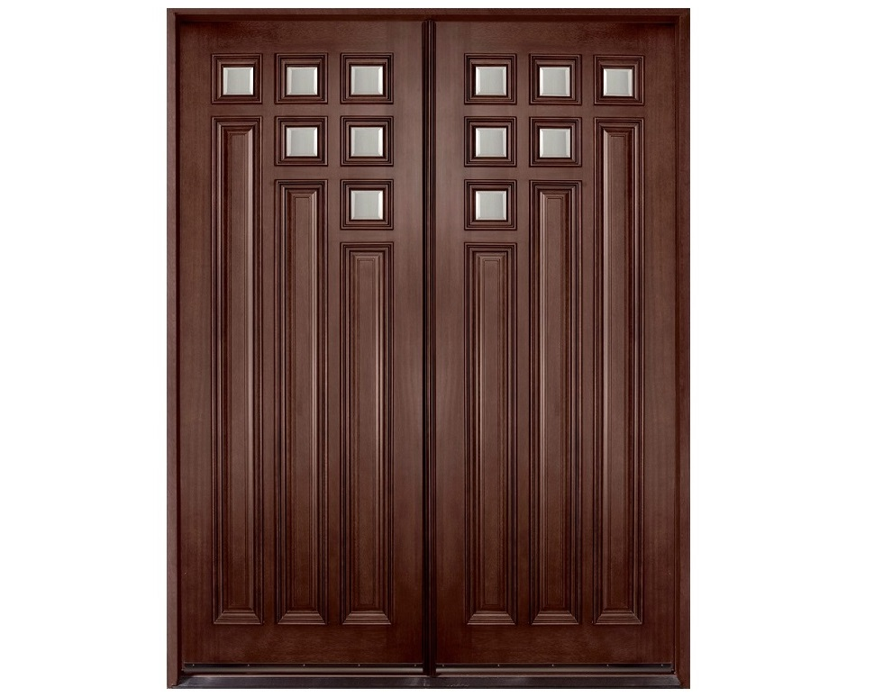 Dark polish main double door pid001 main doors design for Simple main door design