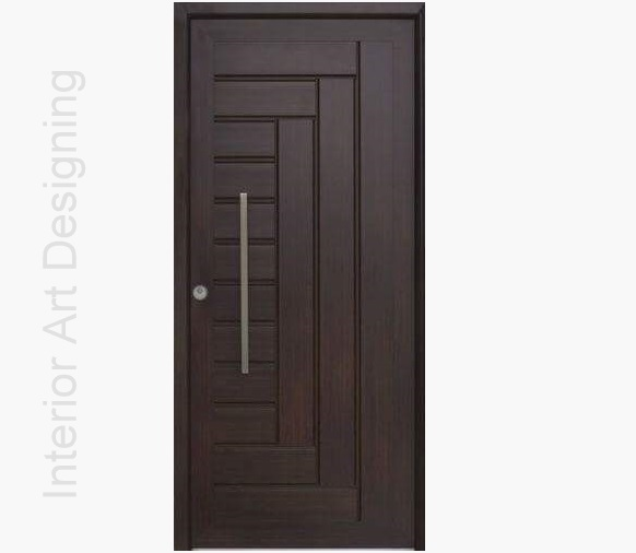 Dark polish wood door design id745 modern entry door for Simple wooden front door designs
