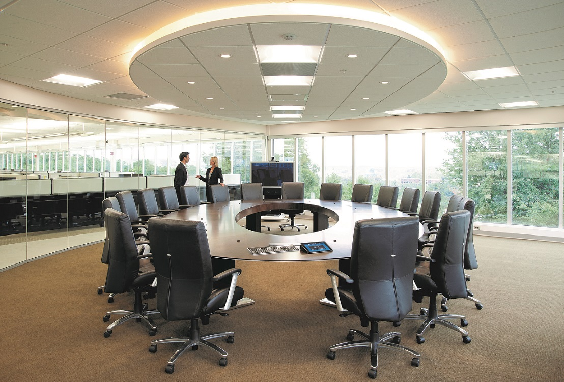 conference room table ideas. Download Elegant Round Conference Table Design Suitable For Eighteen People Image Room Ideas