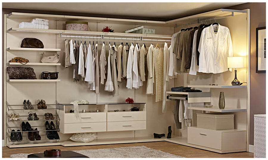 Elegant walk in closet design id589 modern walk in for Designs for walk in closets