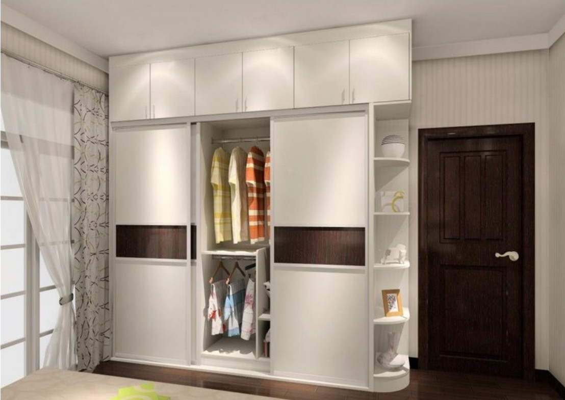 Fixed Three Doors Sliding Wardrobe Id562 Three Door