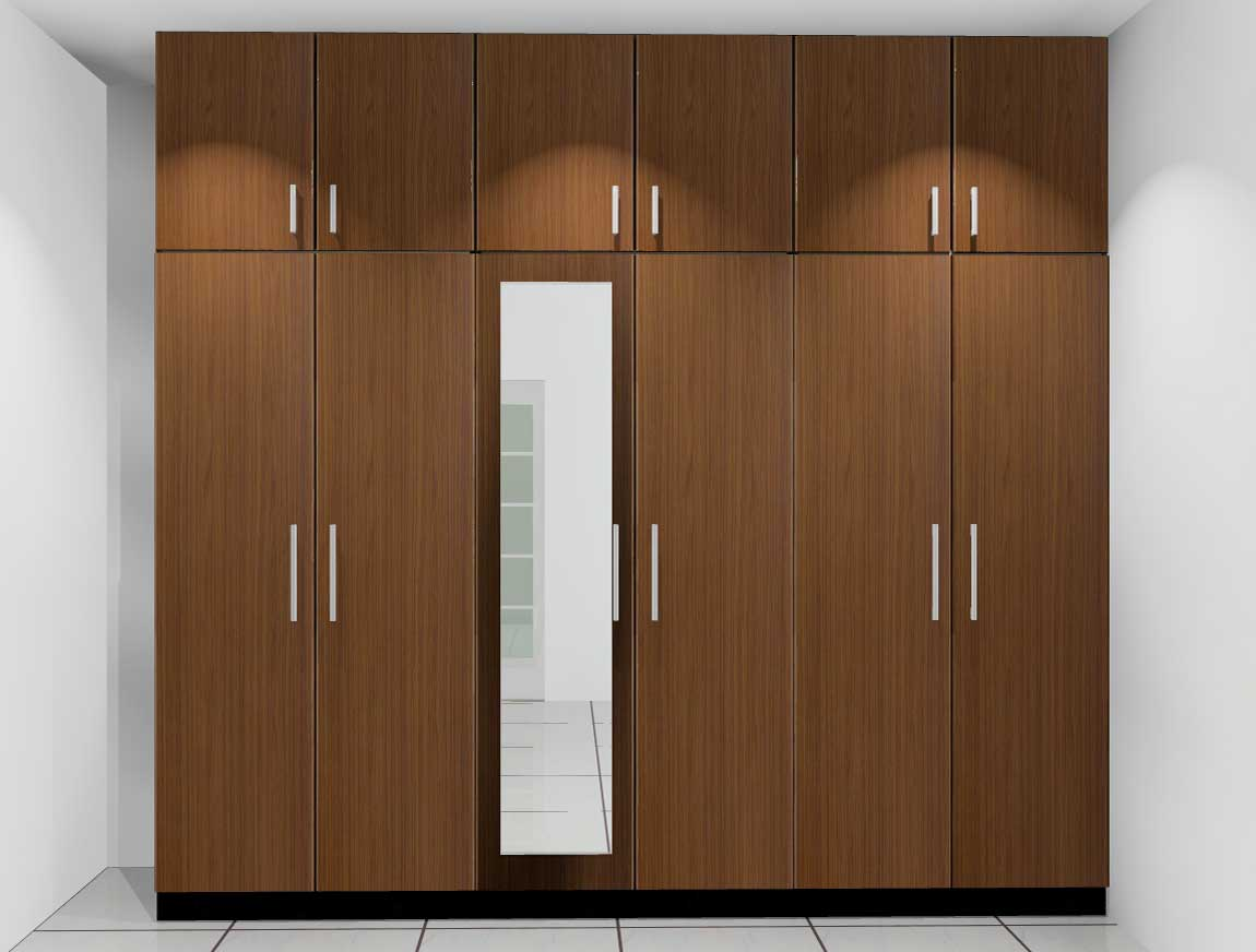 Fixed wardrobe design with glass id568 fixed wardrobe for Interior decoration with glass