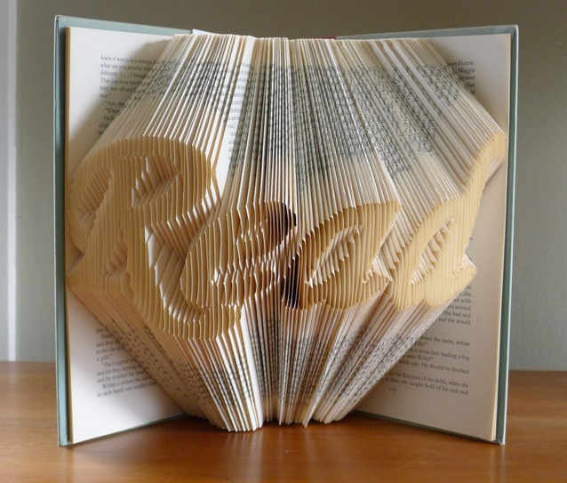 Download folded art book gift for book lovers image