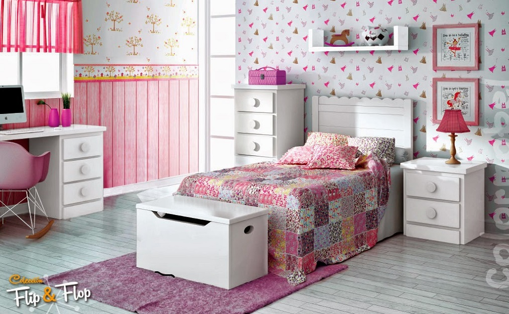 Girls bedroom furniture design study table id922 girls for Sofas para habitaciones juveniles