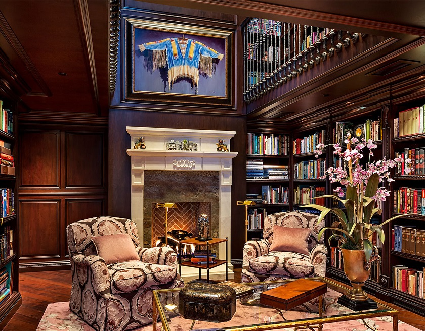 Gorgeous Home Library Design And Sofa Set Id791 - Modern Home ...