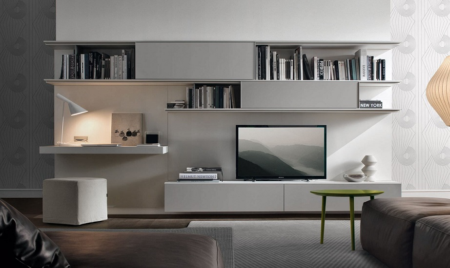 Download Grey Color LCD Cabinet Design For Living Room Beautiful Sofa Image