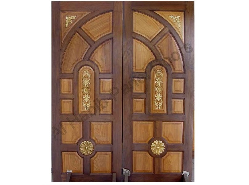 Indian style carving main double door pid002 main doors for Home front door design indian style