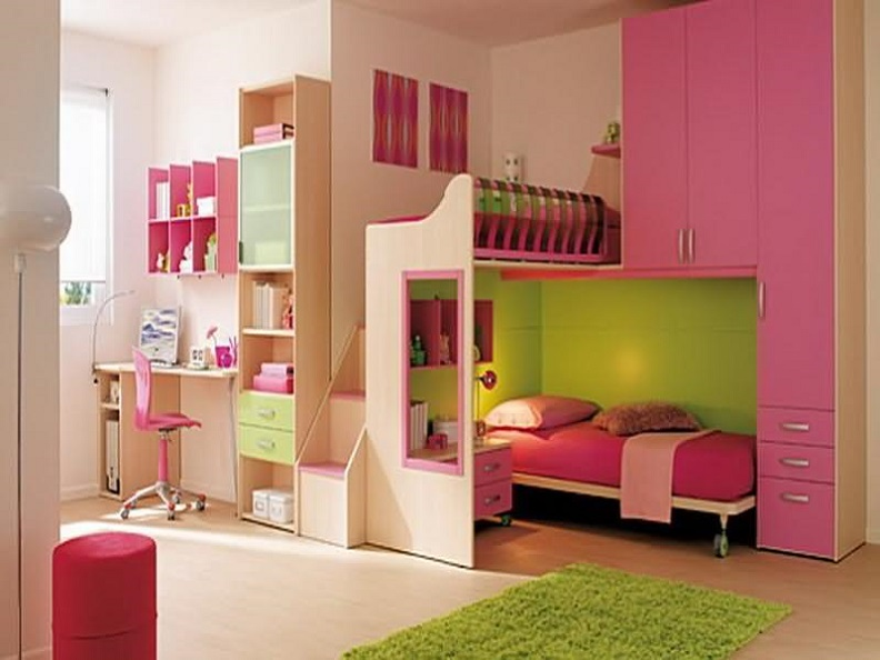 Kids Bedroom With Attached Study Room Interior Design Id880 ...