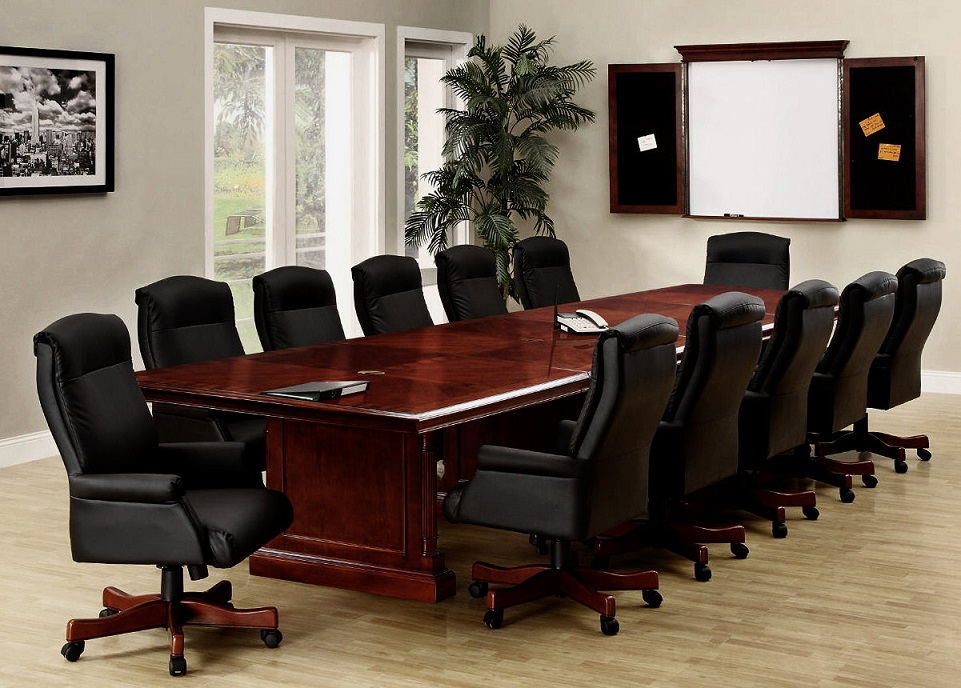Download Long Wood Conference Table For Twelve People Image ...