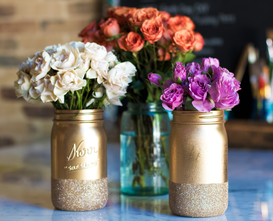 Mason Jar Decorations Part - 27: Download Mason Jar With Flowers Image ...