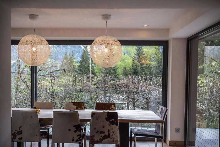 Modern dining table interior design chalet france id chalet