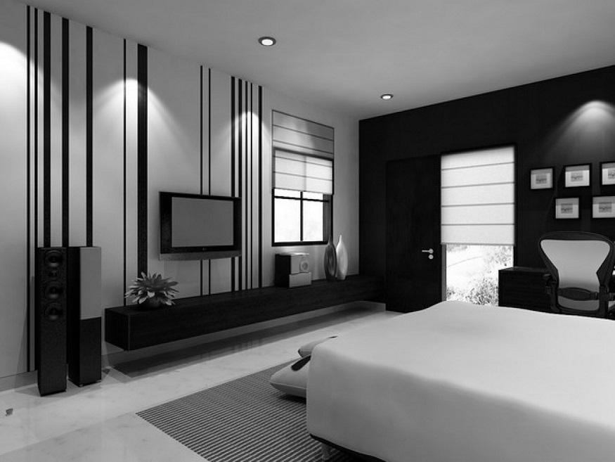 Modern lcd cabinet design idea for bedroom 2017 id986 modern lcd cabinet designs for bedroom for Bedroom ideas in black and white