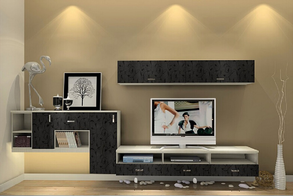 Modern lcd tv unit design idea id1020 lcd cabinet unit for Interior design photos