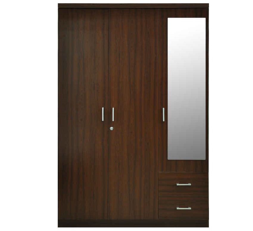 Download Three Doors With Glass And Two Draws Wardrobe Design Image ...  sc 1 st  Interior Art Designing & Three Doors With Glass And Two Draws Wardrobe Design Id557 - Three ...