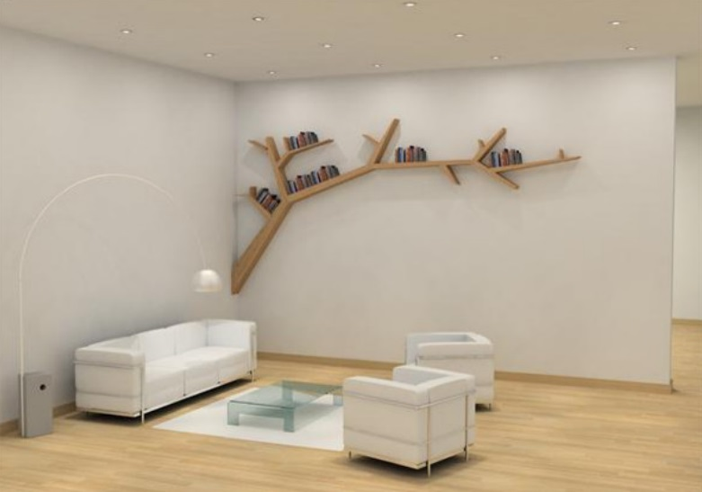 Tree Branches Shape Wall Unit Desigh Id810 - Modern Storage Unit