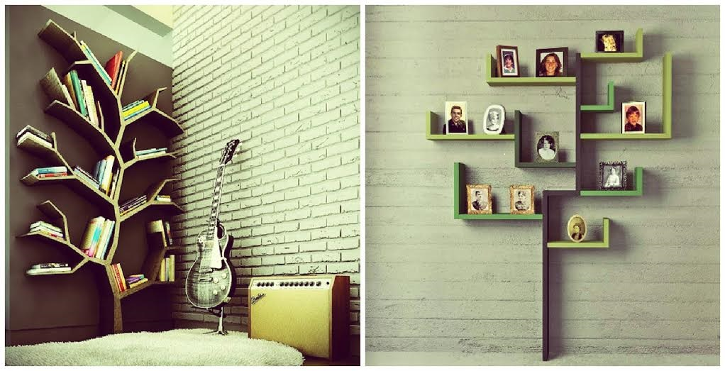 Tree Shape Wall Shelves Design Id817 Modern Storage Unit Designs