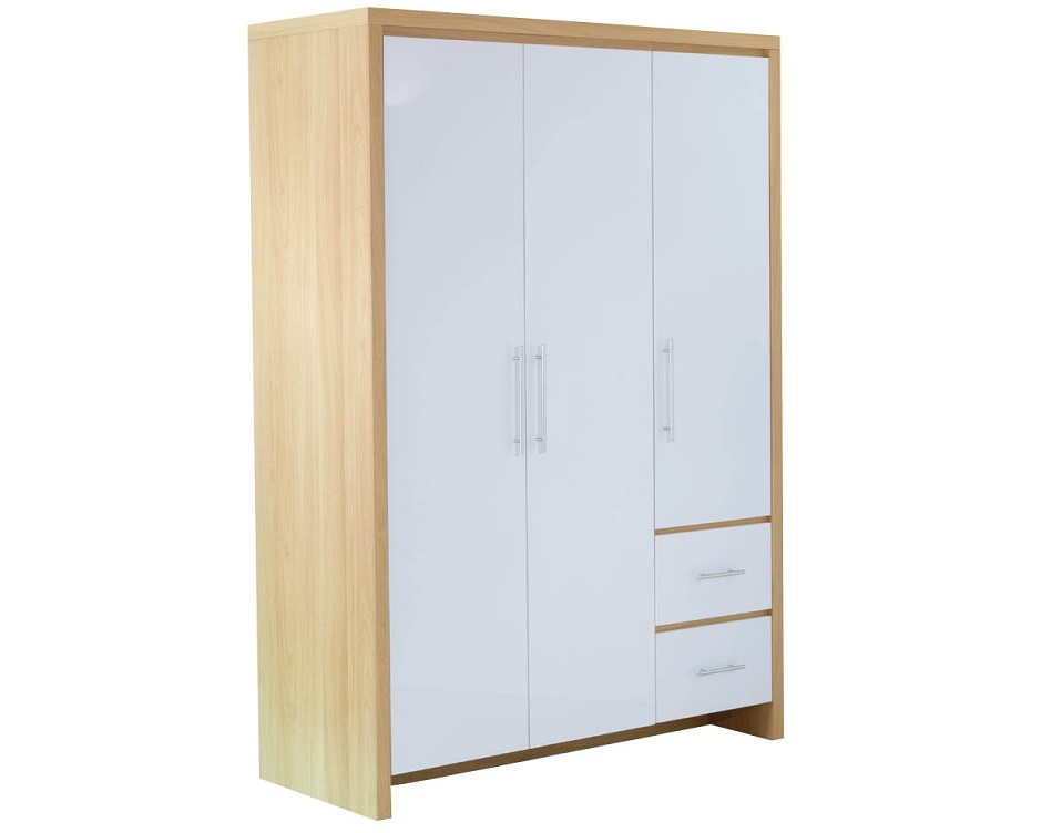 Wooden Three Door Free Standing Wardrobe Design Id559